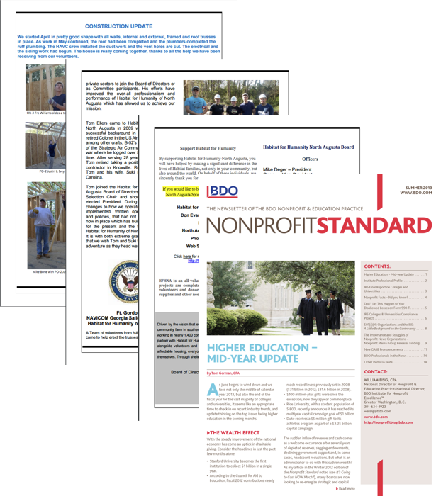 Busy Nonprofit Newsletter Example